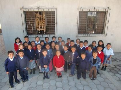 Children outside the Learning Center in El Tehar