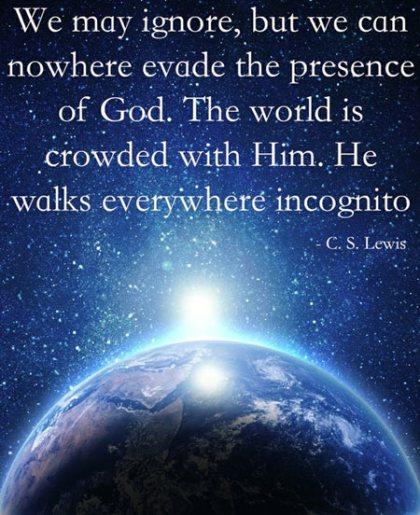 a cs lewis Gods presence